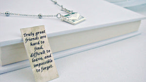 Letter Locket Necklace, Envelope Necklace, Friendship Necklace, Mom Gift, Bird Necklace, Personalized Necklace, Wholesale, Secret Message
