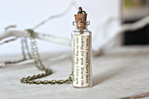 For Him Jewelry, Message in a Bottle Necklace, Personalized Gift, Anniversary Gifts for Boyfriend, Husband Gift, Mens Necklace, Love Letter