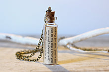 Load image into Gallery viewer, For Him Jewelry, Message in a Bottle Necklace, Personalized Gift, Anniversary Gifts for Boyfriend, Husband Gift, Mens Necklace, Love Letter