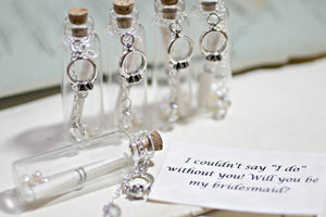 Bridesmaid Gift Set, Personalised Bridesmaids Gifts, Bridesmaid Gift Ideas, Will You Be My Bridesmaid Secret Message In A Bottle, MOH Gift