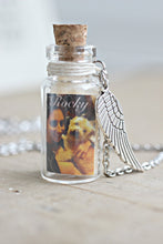 Load image into Gallery viewer, Pet Loss Gifts, Pet Memorial Jewelry, Pet loss Necklace, Lock of Hair Necklace, Loss of Pet, Sympathy Gift, Memorial Jewelry, Dog Keepsake