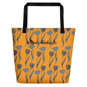 Tulips Beach Bag 16x20