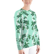 Load image into Gallery viewer, Tropical Turtle Women's Long Sleeve T-shirt