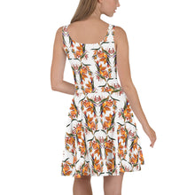 Load image into Gallery viewer, Tropical Flowers Skater Dress