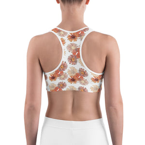 Flowers Design Sports bra