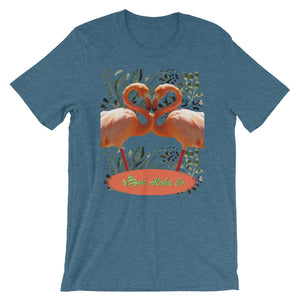 Pink Flamingos in Love Short-Sleeve Unisex T-Shirt