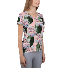 Load image into Gallery viewer, Hawaiian- Magnolia Blossom Women's Athletic T-Shirt