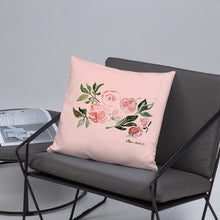 Load image into Gallery viewer, Peony Watercolor Design Basic Pillow 18x18