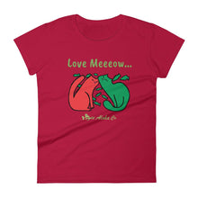 Load image into Gallery viewer, Love Me Meow Women's short sleeve t-shirt