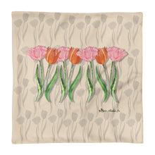 Load image into Gallery viewer, Tulips Basic Pillow Case only Pillow 18x18