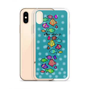 Colored Tropical Fishes iPhone Case