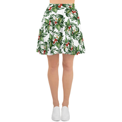 Tropical Flowers Skater Skirt