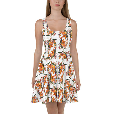 Tropical Flowers Skater Dress