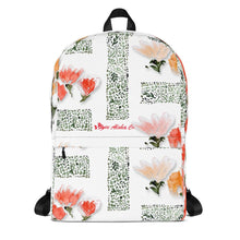 Load image into Gallery viewer, Floral Design Backpack