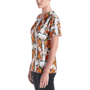 Tropical Flowers Women's V-neck