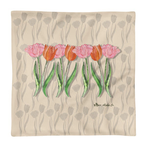 Tulips Basic Pillow Case only Pillow 18x18