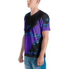 Load image into Gallery viewer, Butterflies Black & Purple Men's T-shirt
