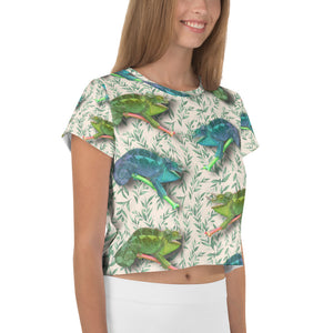 Hawaiian -  Chameleon Women's Crop Tee