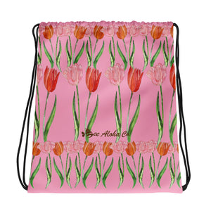 "Tulips Drawstring bag 15""x17"""