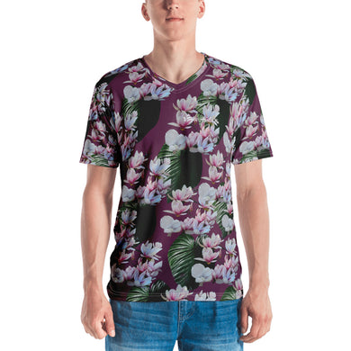 Hawaiian- Magnolia Blossom Men's V-Neck T-Shirt