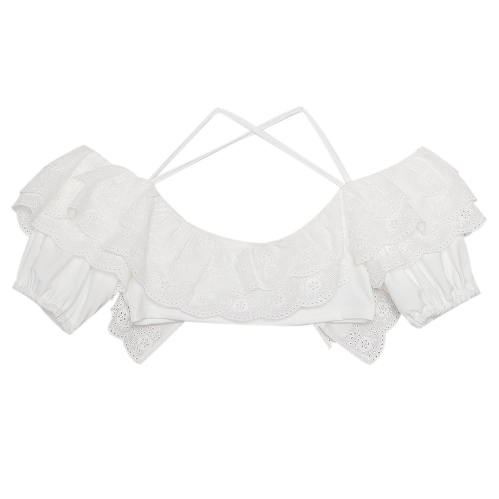 Karlae Bardot Cross Back Crop Top