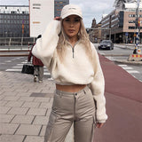 Greta Faux Fur Zipper Crop