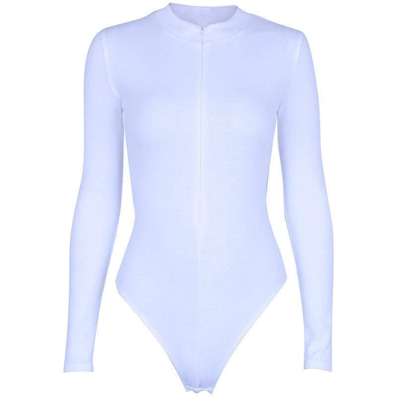 Zoe Front Zip Long Sleeve Bodysuit