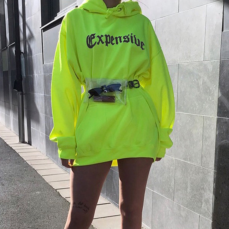 Expensive Oversized Hoodie - Neon Yellow