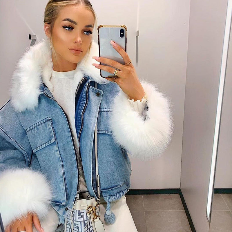 High Maintenance Fur Lined Denim Jacket
