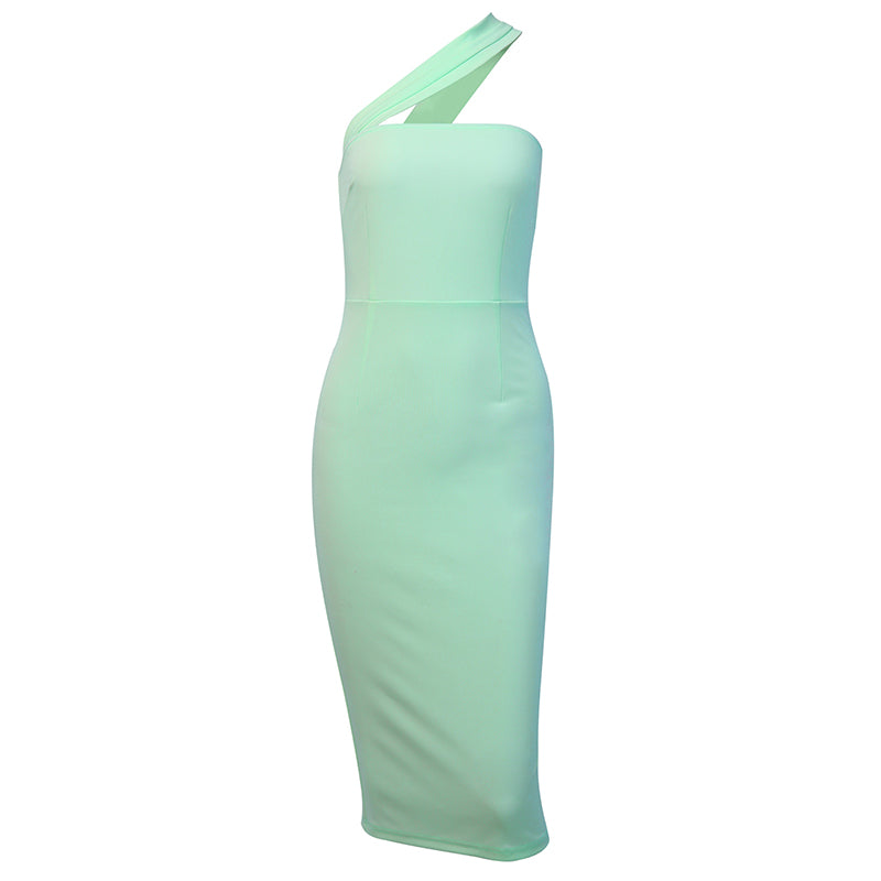 Mindy Assymetrical Midi Dress