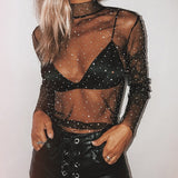 See Right Through Mesh Top