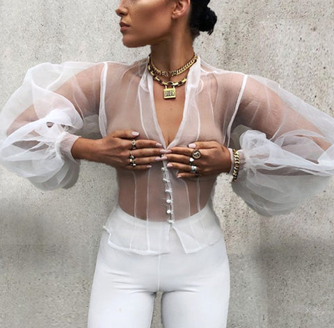 Malva See Through Shirt