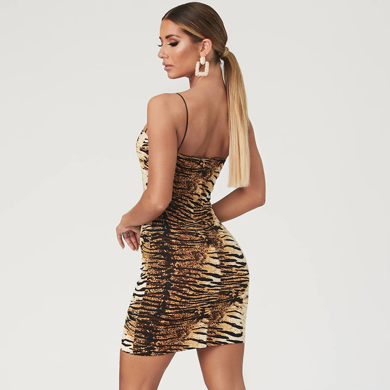 Jungle Fever Zebra Print Mini Dress