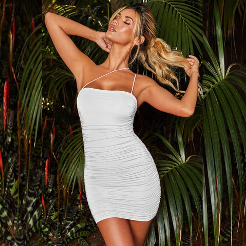 Over It Ruched Mini Dress