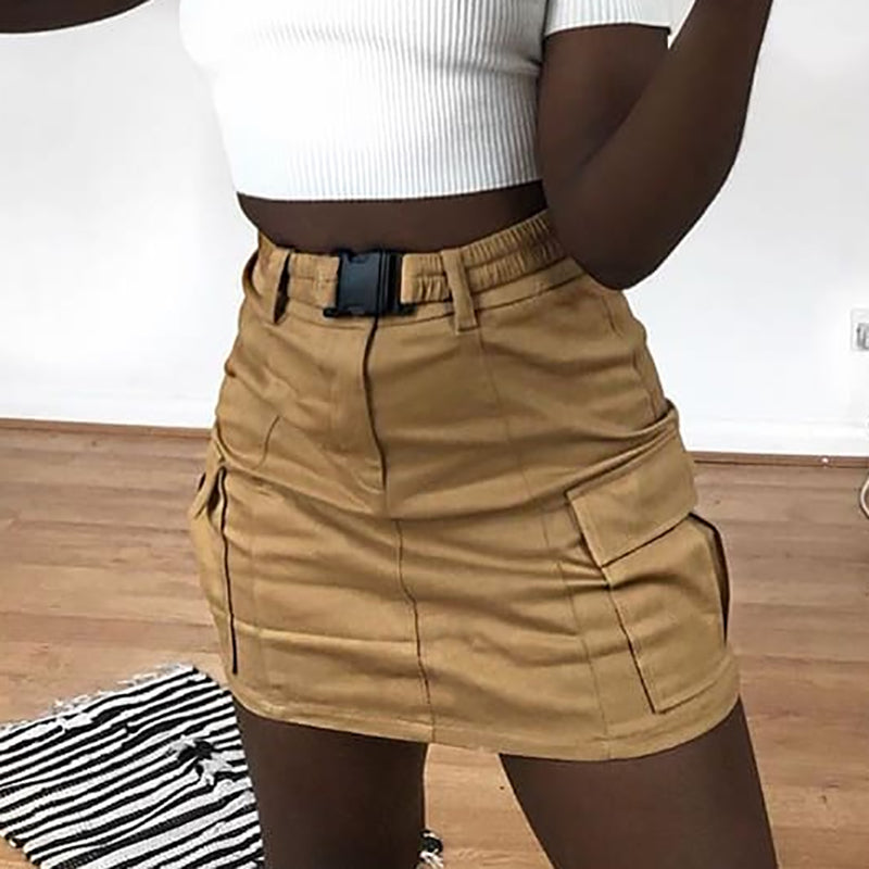 Lorena Cargo Mini Skirt