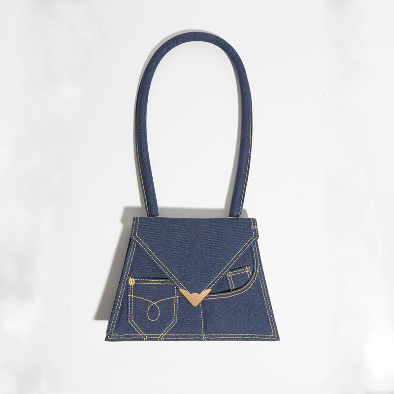 Prescot Denim Shoulder Mini Bag