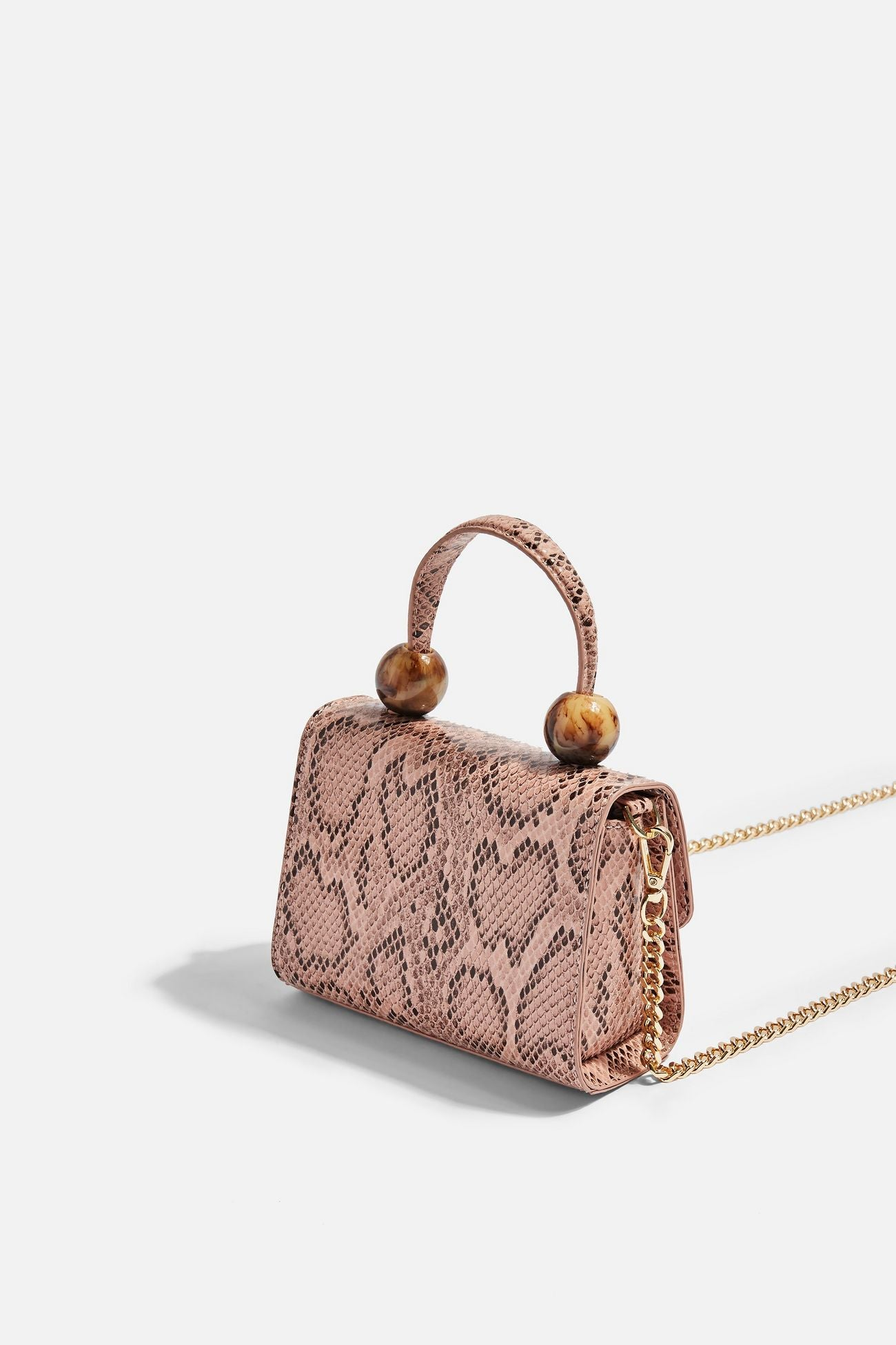 Mila Pink Snake Mini Bag