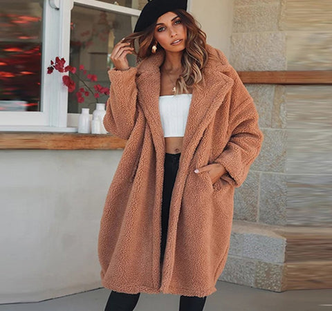 Cozied Up Cashmere Teddy Coat