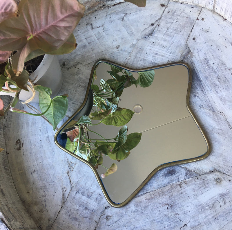 Brass Star Mirrors - Gold