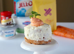 Protein Carrot Cake Mug Cake and Low Calorie Cream Cheese Frosting