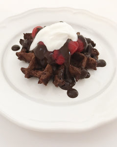 Black Forrest Chocolate Cherry Protein Waffle