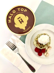 Pistachio raspberry chocolate Halo Top high protein macro friendly