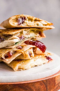TURKEY DINNER QUESADILLAS WITH CRANBERRY SAUCE