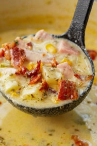 CHEESY HAM AND POTATO SOUP