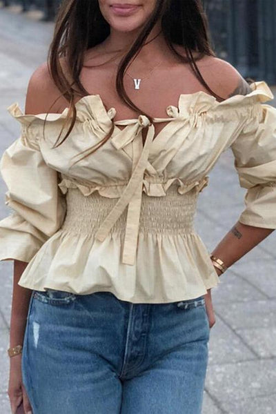 Off Shoulder Elastic Top