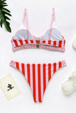 Dot Stripe Bikini Set