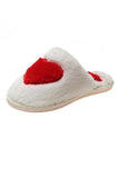 Heart Fuzzy Mules Slipper