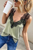 Lace Patchwork Tank Top
