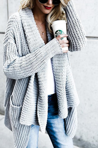 Comfy Cozy Pocketed Long Sleeves Cardigan