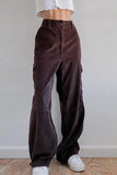 Pockets Corduroy Bell Pants